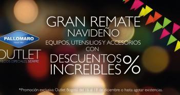 Remate Navideño en Outlet Pallomaro Bogotá
