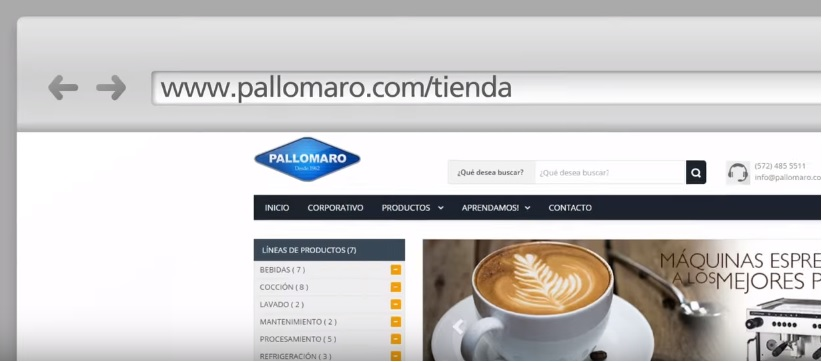 tienda virtual pallomaro close up