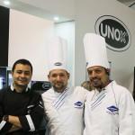 Los chef Pallomaro con Chef Unox