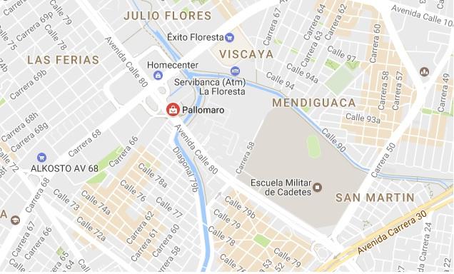 mapa pallomaro bogota