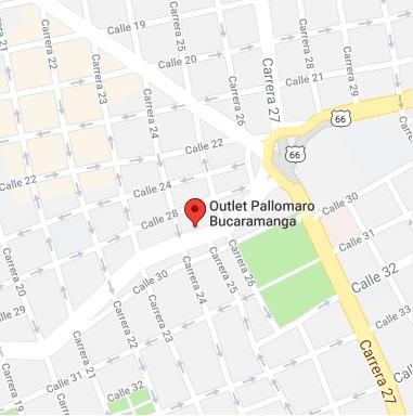 mapa outlet pallomaro bucaramanga