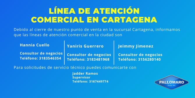 Líneas de atención en Cartagena